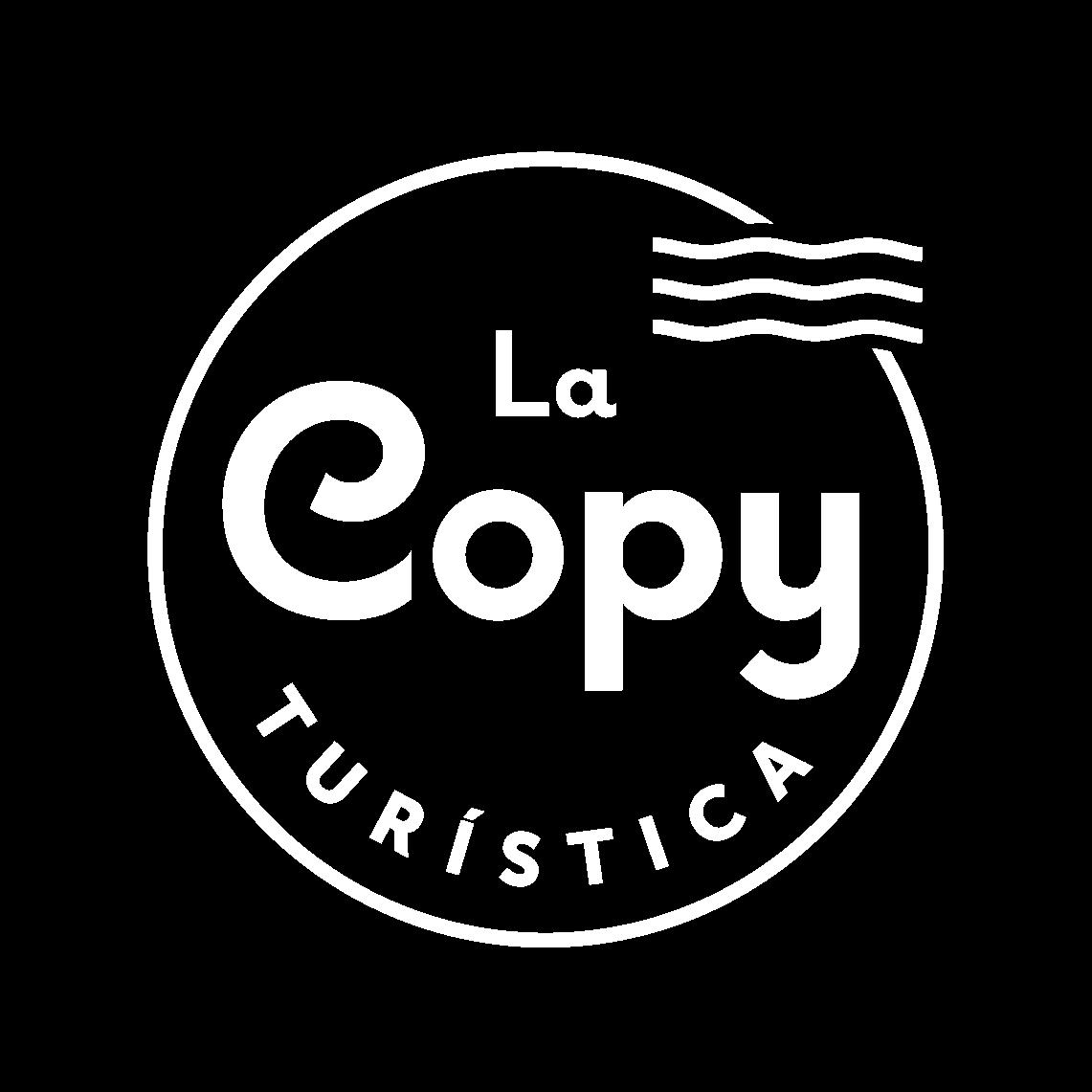 La Copy Turística - logo negativo